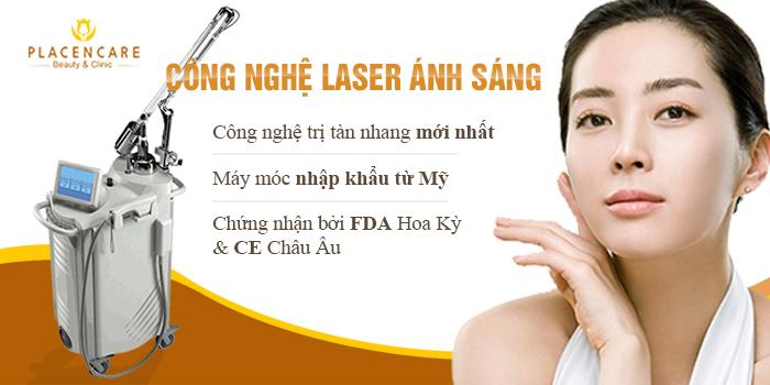 cách trị tàn nhang bằng laser ánh sáng