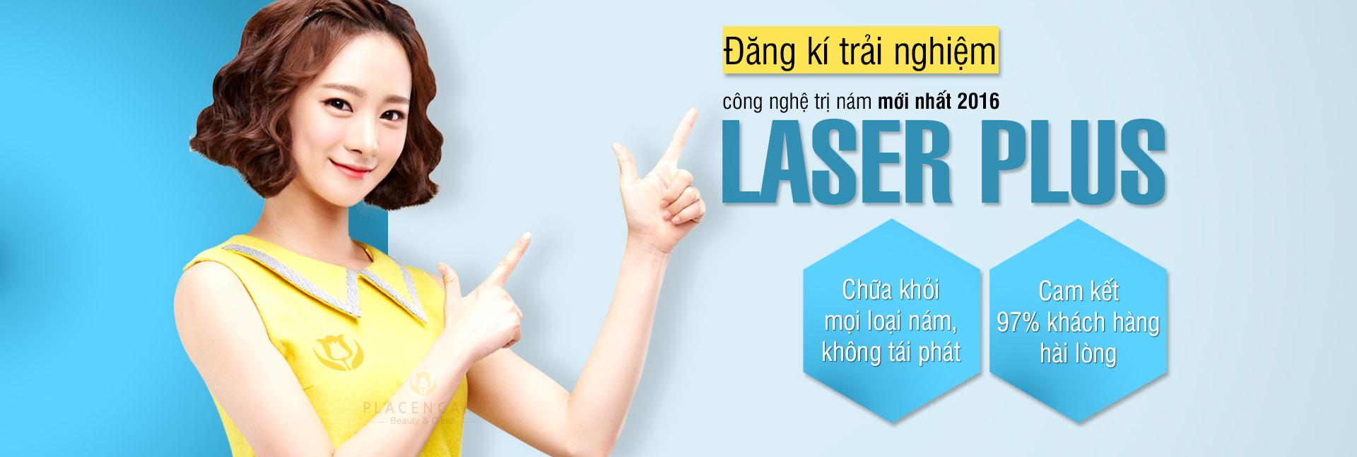 trị nám bằng laser plus