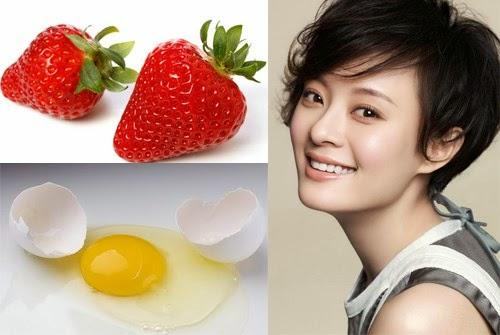 Dâu tây và trứng