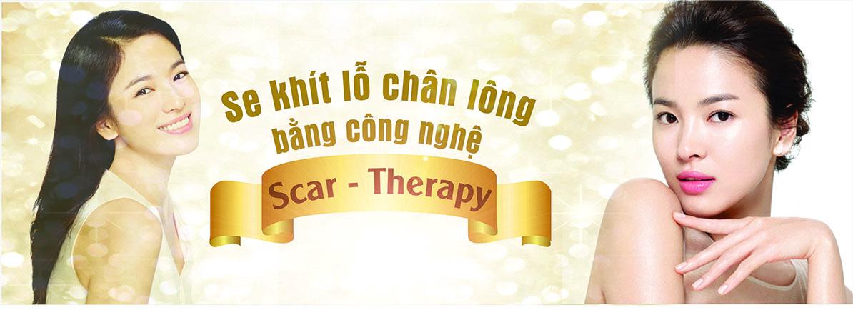 Se khít lỗ chân lông bằng công nghệ Scartherapy